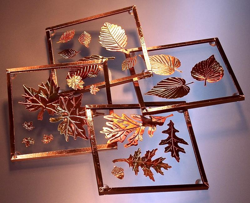 Copper Leaves Coasters